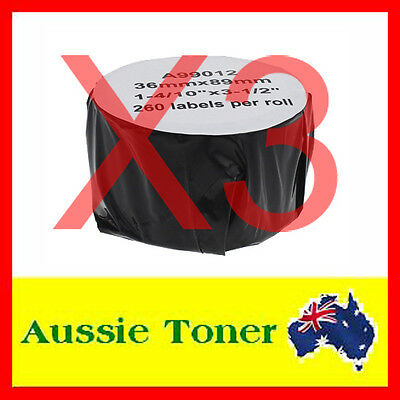 3x Compatible Label Roll For Dymo LW 99012 SD99012 36mm x 89mm Labelwriter 450