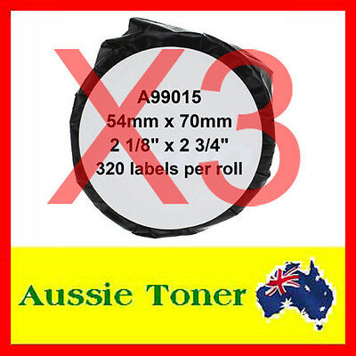 3x Compatible Label Roll For Dymo LW 99015 SD99015 54mm x 70mm Labelwriter 450