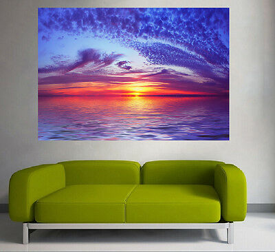 A0 Quality POSTER PRINT LANDSCAPE  sea ocean SUNSET sunrise photo australia