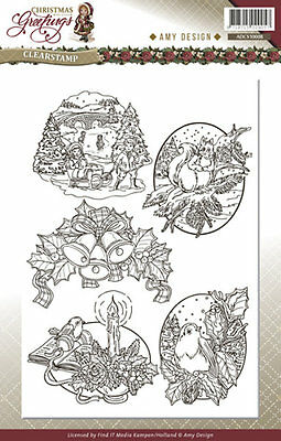 ClearStamp / Stempel - Christmas Greetings - von Amy Design (ADCS10008)