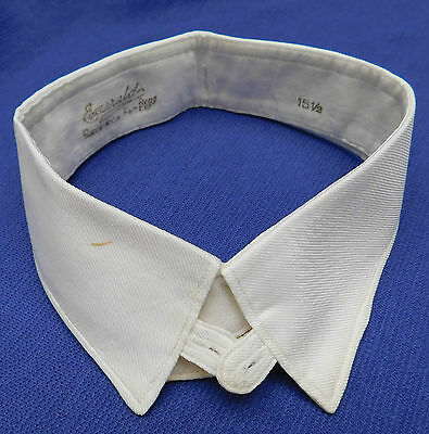 Vintage shirt collar 15.5 Emerald Raynisca 1930s 1940s IMPERFECT semi stiff