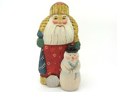 Russian Hand Painted FIGURE Doll Father FROST Christmas Snowman Santa Ryabova