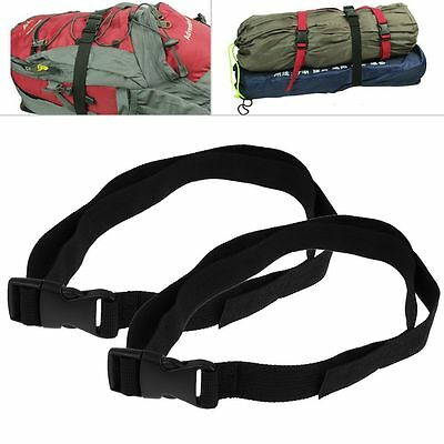 2Pcs Durable Baggage Luggage Band Strap Nylon Suitcase Clip Camping Tent Bind