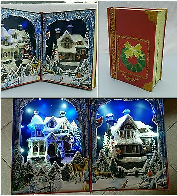 Home Village Collection Livre scene de Noel ,Tehnologie LED