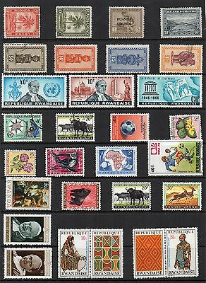 RWANDA Mint and Used STAMP Collection REF:QC685