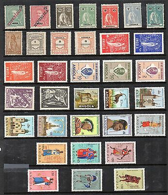 ANGOLA STAMP COLLECTION Mint inc 1948 OUR LADY Set 4v c1911-57  REF:QC716