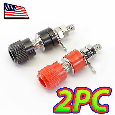 [1 Pair] 4mm Banana Jack Connector Socket Screw Terminal Binding Post