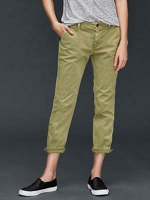 92d92565ad3 GAP WOMEN S GIRLFRIEND Chino Pants Temporal Olive 6 Reg NWT  60 ...
