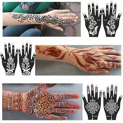 DIY Reusable Chic Hand Stencil Template Henna Temporary Tattoo Sticker Body Arts
