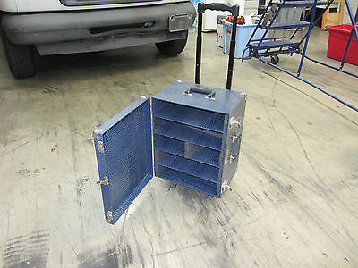 Alligator Cover Rolling Storage Case Rolling Handle Locking Latches