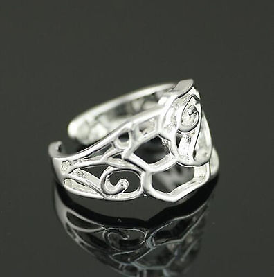 925 Solid Sterling Silver Plated Women/Men NEW Fashion Ring Gift SIZE OPEN SEP07