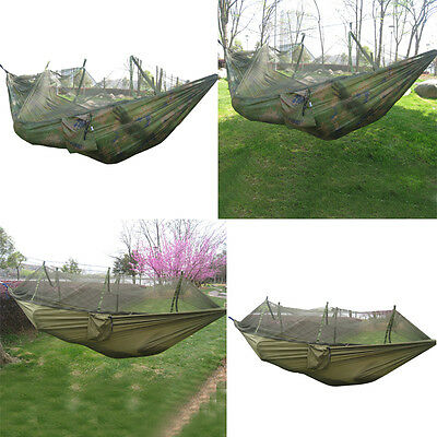 Portable Outdoor Travel Jungle Camping Hammock Garden Hanging Bed + Mosquito Net