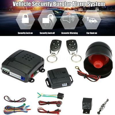 Universal Car Security Alarm Protection Anti-theft System 2 Remote Control A0Z5