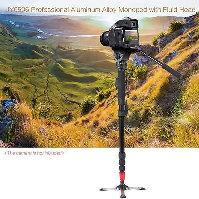 "Professional 63"" Tripod Monopod Stand Fluid Pan Head for DSLR Camera Camcorder"