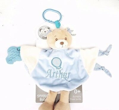 Personalised Baby Comforter c/w Teether   Blankie/Blanket Gift - Quality Gift
