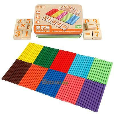 Children Wooden Mathematics Puzzle Kid Math Calculate Learn Educational Game Toy