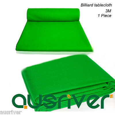 New Grass Green Billiard Pool Snooker Tablecloth Felt Durable Wool Blended