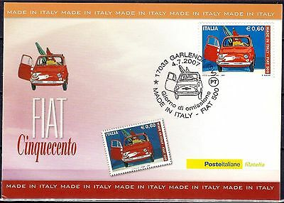 Italy 2007 Fiat New 500 1st series/1957 Made in Italy Vintage Cars Transport MC
