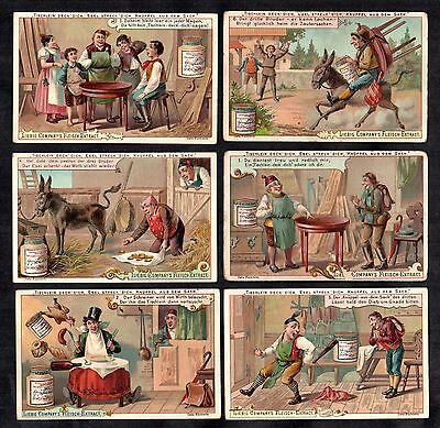 The Magic Table Rare Liebig Card Set 1893 Antique Vintage Ass Donkey Story