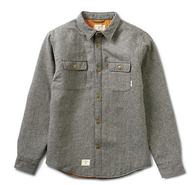 Fourstar Chester Quilted Flannel Men's Jacket Grey - Large (LIMITED EDITION)
