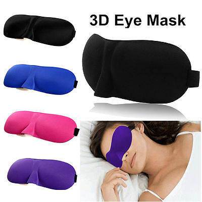 1x 2x 3x 5x Soft Padded 3D Eye Mask Padded Rest Travel Sleep Aid Shade Cover