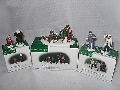 Dept 56 - Lot Of 3 Christmas In The City Series Accessory Sets