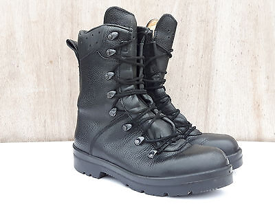 Genuine Army Surplus German Para Boot Boots Black Leather MK6 Supergrade Small