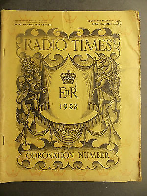 Radio Times Coronation Number May 31-June 6 1953 West of England edition
