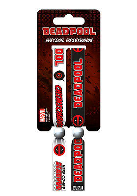 MARVEL COMICS Deadpool Pack Of 2 Fabric Festival Wristbands FWR68063