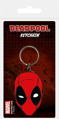 Marvel Comics Deadpool (Face) RUBBER KEYRING /KEYCHAIN BY PYRAMID RK38556