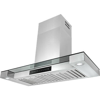 """30"""" Wall Mount Stainless Steel Touch Screen Cooking Range Hood Vent LED Lights"""