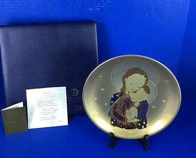 Schmid 24K GOLD Tranquility Collector's Plate by Sister Berta Hummel