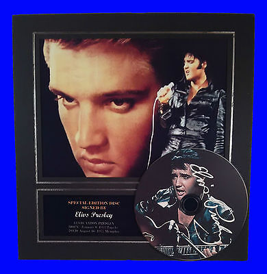 Elvis Presley Quality signed Mounted photo display Autographed CD brand new