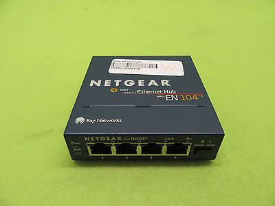 Netgear EN104tp 4Port 10BASE-T Ethernet Hub *Tested Working