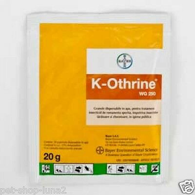 20 Grams K-Othrine  Bayer 250Wg Insecticide Flies Mosquitoes Cockroaches Ants