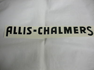 "Allis Chalmers Decal Black 2 1/4 "" X 23"" Long A & S - NEW FREE SHIPPING"