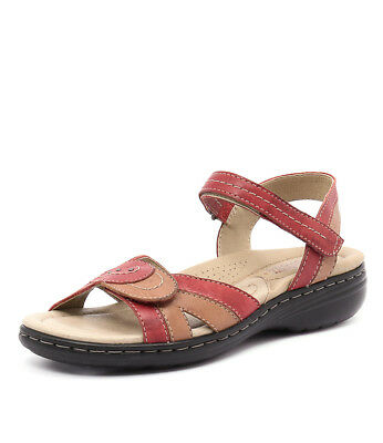 New Planet Ema Red Multi Womens Shoes Casual Sandals Heeled
