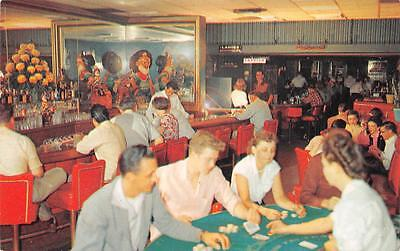 THE NUGGET CLUB Gambling Casino Interior Reno, Nevada Vintage Postcard 1958
