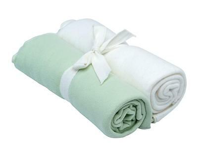 Under the Nile Organic Egyptian Cotton Swaddle Blanket 2 Pack - Sage Green