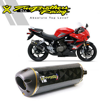 Two Brothers M-2 Carbon Fiber Flange-On Exhaust 2007-2013 Hyosung GT250R