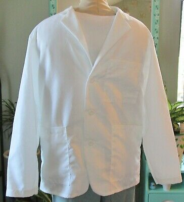 "Medline Consultant L/S Lab Coat 3 Pocket 29"" Length White Sizes XS to 3X"