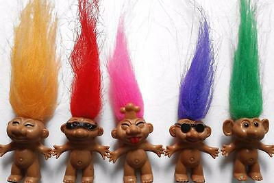Bulk Pack of 8 Mixed Mini TROLL Doll Figures Kids Party Favor Novelty Toys NEW