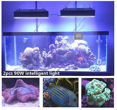 Newest 2pcs Dimmable WIFI LED Aquarium Light For Coral Reef Marine Fish Tank