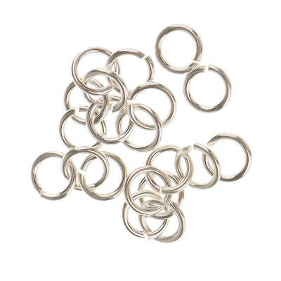 20pc Sterling Silver Open Split JUMP RINGS Findings for Jewellry Making 4mm
