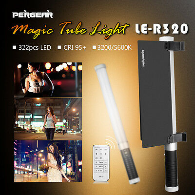 Pergear LE-R320 pro handheld 322pcs LED fill light +Pergear Barn Door kit