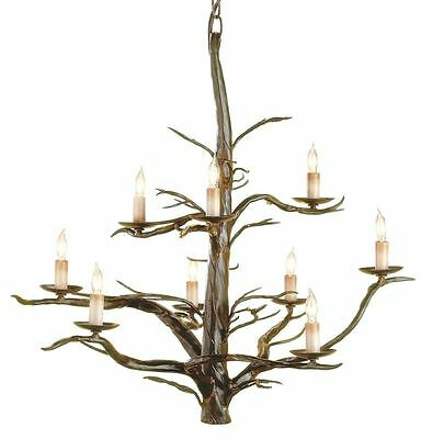 Rustic Tree Branch Twig Antler Style XL Chandelier Foyer Hall Dining Organic