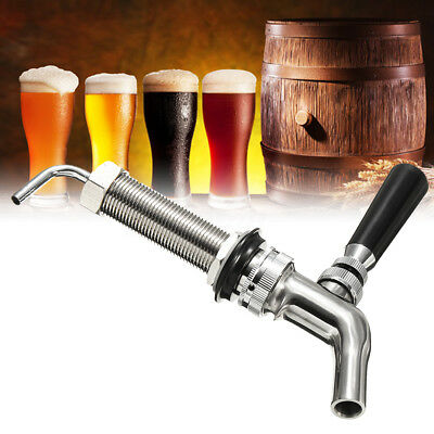 80mm Forward Seal Tap Long Shank Draft Beer Faucet Stainless Steel For Homebrew