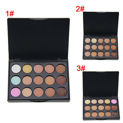 Women 15 Color Concealer Make Up Cream Camouflage Foundation Cosmetic Palettes