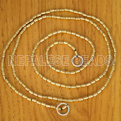 "BS989 Nepalese Tibetan Brass Beads Strand 30"" for Jewelry Making"