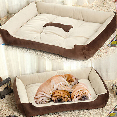 Luxury Extra Soft  Warm Comfy Fabric Dog Cat Pet Bed Puppy Washable Light Weight